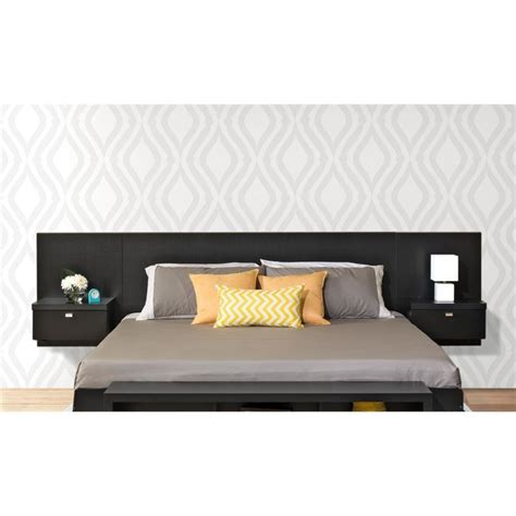 valhalla designer series floating king headboard with integrated nightstands prepac series 9 designer floating king headboard with