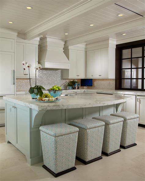 marble topped kitchen island contemporary cottage kitchen with marble topped island hgtv
