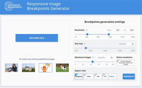 layout generator responsive orodje responsive image breakpoints generator pomagalnik