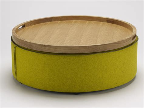 round storage ottoman with tray small round ottoman giving extra update in your home decor