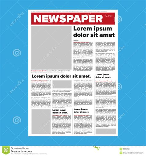 newspaper layout illustrator newspaper layout vector stock vector illustration of