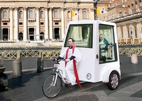 pope mobile pedal powered popemobile eta