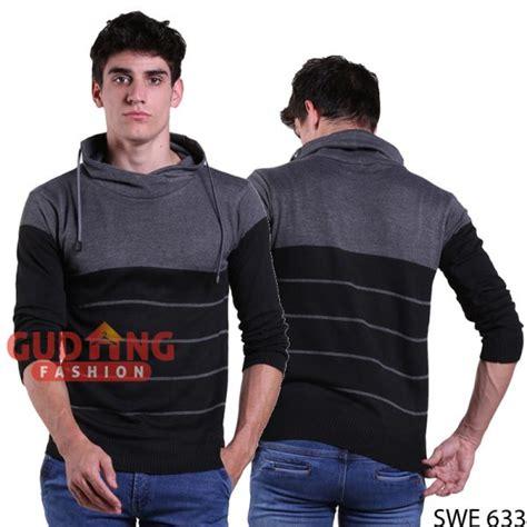 Sweater Casual Simple Pria Swe 1013 sweater harajuku pria berkerudung rajut kombinasi warna swe 633 gudang fashion