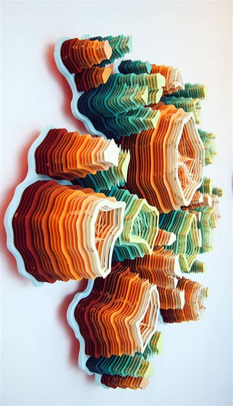 Paper Craft Artists - layered cut paper sculptures inspired by nature