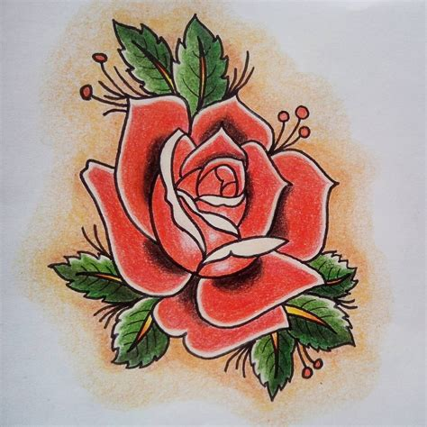 traditional roses traditional by julianaexs on deviantart