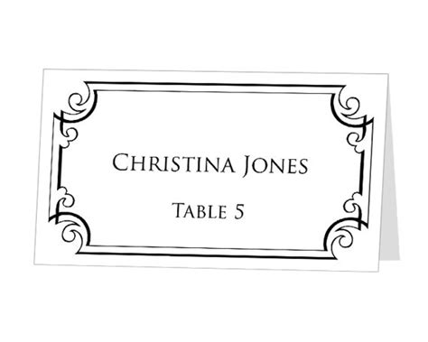 table number place cards template instant print at home place cards template by