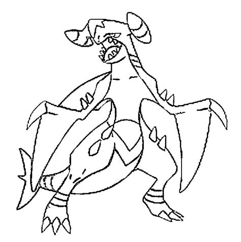 Coloring Pages Pokemon Garchomp Drawings Pokemon Garchomp Coloring Pages