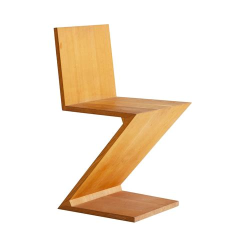 rietveld sedia gerrit rietveld zig zag chair for sale at 1stdibs