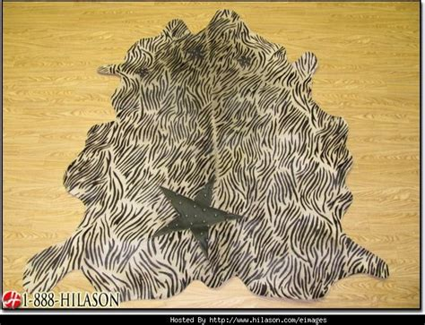 Hair On Cowhide Leather Cow Hide Hair On Leather Cowhide Zebra Print Rug Sc219