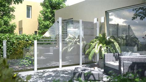 Terrasse Windschutz Glas by Sichtschutz System Glas 89 00
