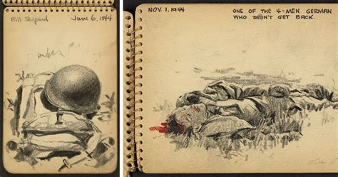 year sketchbook 21 year wwii soldier s sketchbooks show war through