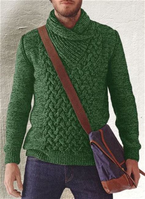 mens shawl collar sweater knitting pattern s knitted shawl collar sweater 42b tejidos