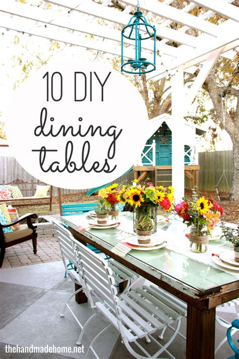 diy dining table ideas 10 diy dining table ideas build your own table