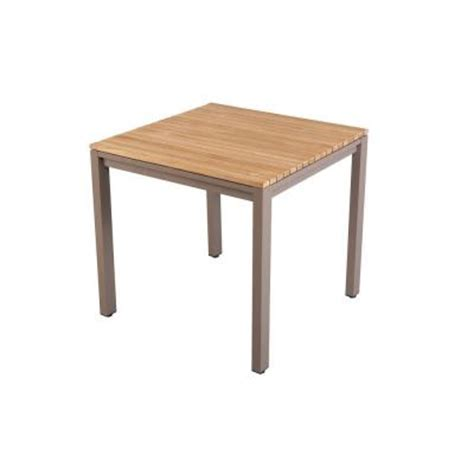 Hampton Bay Barnsdale 31 in. Teak Square Patio Dining