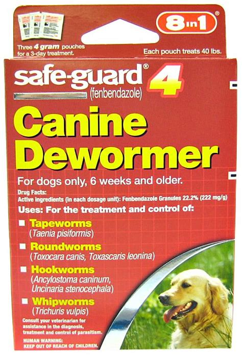 safeguard puppy dewormer 8 in 1 pet products safe guard 4 canine dewormer wormers for dogs