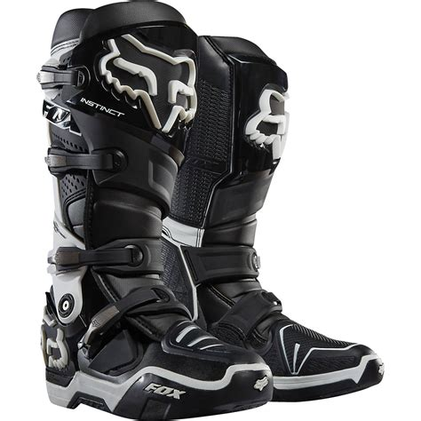 black dirt bike boots fox racing 2016 mx gear instinct black white motocross
