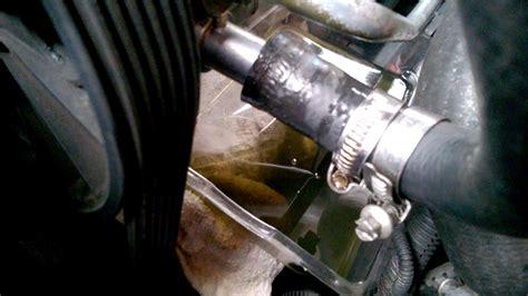leaking power steering rubber hose volvo youtube