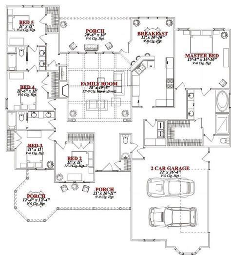 house plans websites single story 5 bedroom house plans lovely e story 5