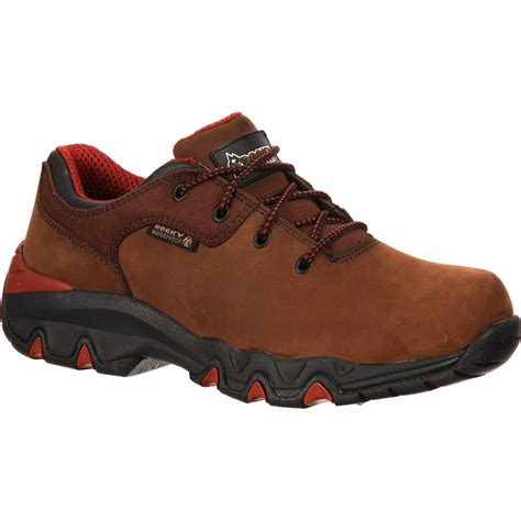 rocky shoes rocky bigfoot waterproof brown oxford work shoe rkyk066