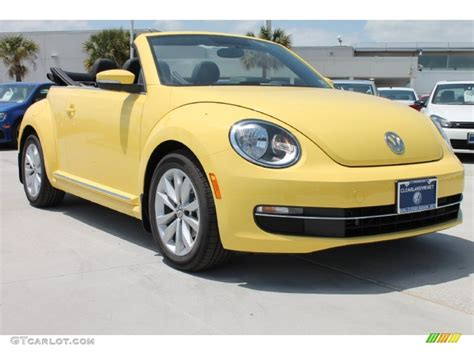 volkswagen bug yellow volkswagen beetle yellow convertible