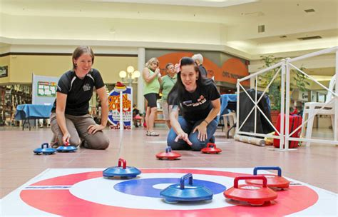 Curling Floor by Curling At The Mall Welland Tribune