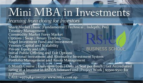 Mini Mba 2017 by Mini Mba For Ceo And Investors Rstca