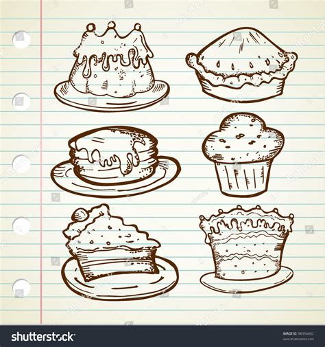 cake doodle free collection of cake doodle stock vector illustration