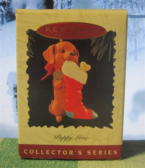 hallmark keepsake christmas ornament puppy love 1996