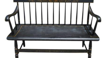 deacons bench furniture vintage hitchcock furniture black spindle back deacon s