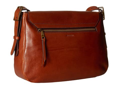 fossil large saddle crossbody at zappos