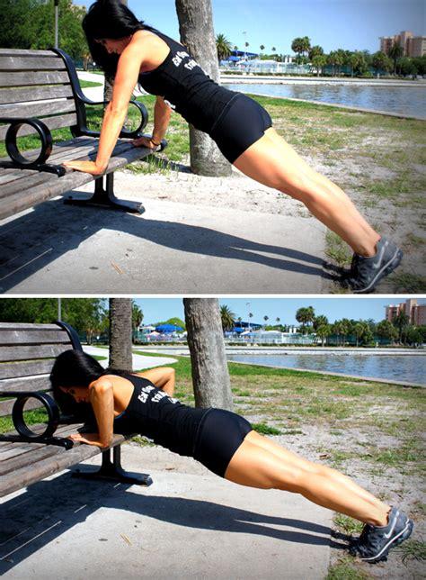 bench push ups δείτε το παγκάκι της γειτονιάς σας με άλλο