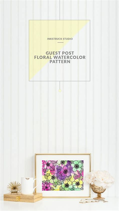 watercolor pattern tutorial watercolor floral pattern tutorial watercolor tutorials