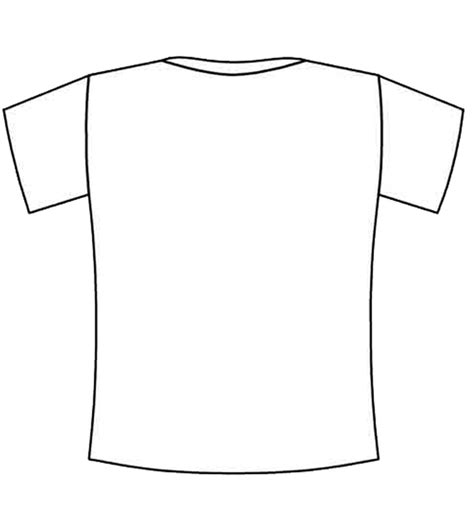 Coloring Page T Shirt by Blank Back Tshirt Coloring Squared