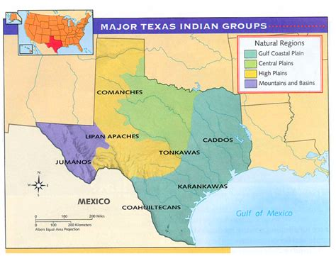 map of texas indian tribes image gallery americans in texas