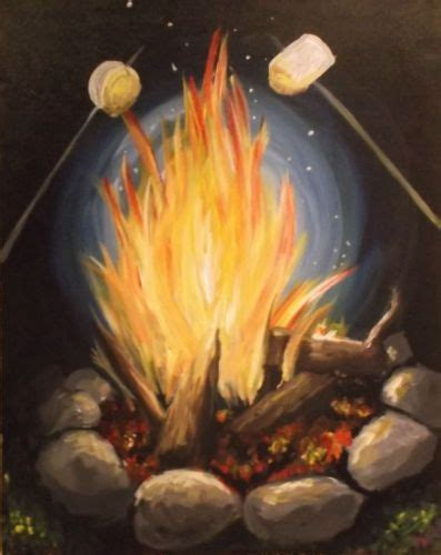 paint nite inland empire groupon paintnite painting toasty marshmallows illustrations