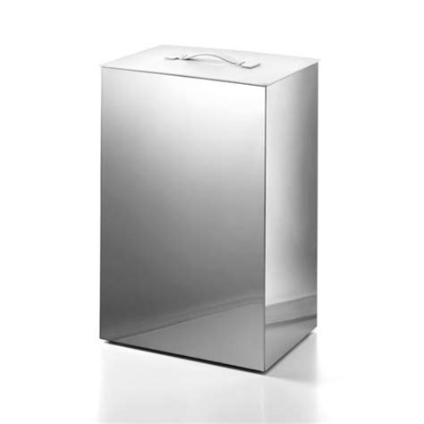 Complements Stainless Steel Large Laundry Basket With White Laundry With Lid