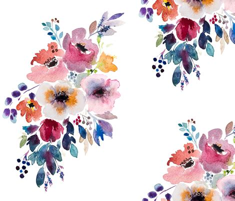 Original Home Decor by Fall Flower Watercolor Bouquet Giftwrap Craftberrybush