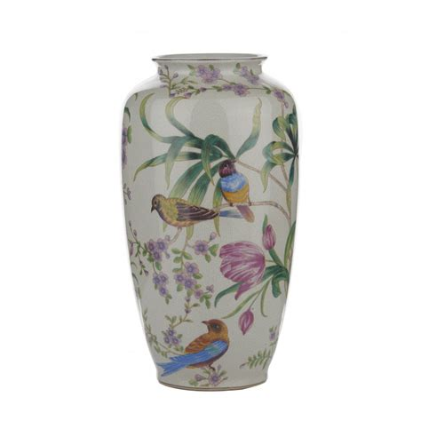 Floral Vases by 004j57024 Ceramic Vase White Floral Bird