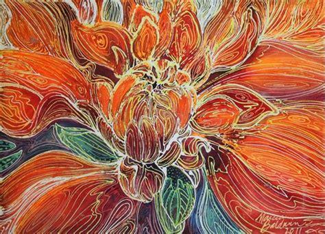 abstract design for batik dahlia floral batik abstract by marcia baldwin from
