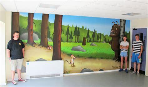 Nursery Wall Mural peaceful progress graffiti art cardiff wales uk