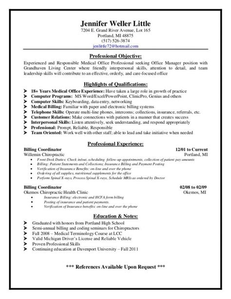 billing analyst resume sles 28 images senior billing