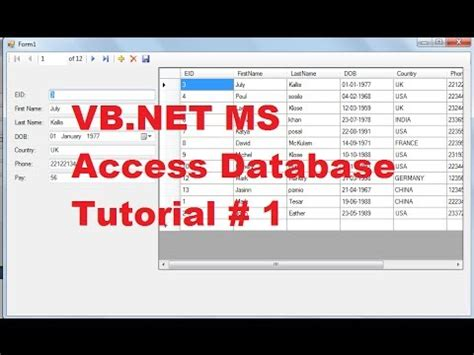 tutorial of vb net in pdf vb net access database tutorial pdf zikewut over blog com