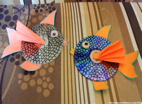 Summer Crafts For How To Make Hanging Cd Fish