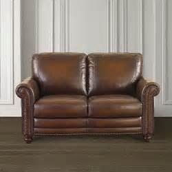 Bassett Hamilton Sofa by Old World Loveseat Hamilton Brown Leather Bassett