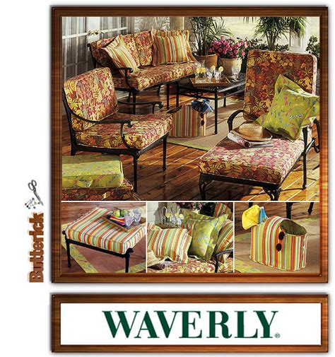 Patio Chair Cushion Cover Patterns Butterick Waverly 4759 Outdoor Living Pattern Patio