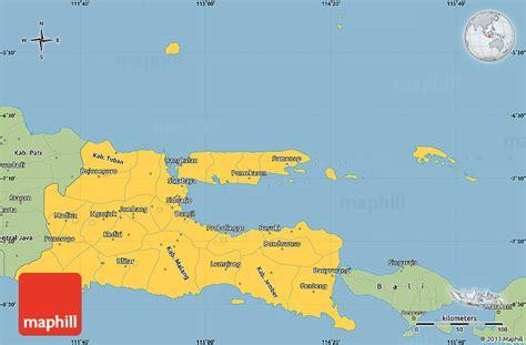 java layout east west savanna style simple map of east java