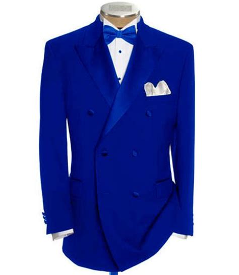 Jaspria Jas Exclusive Blue Navy breasted tuxedo suit shirt bow tie package 6 o