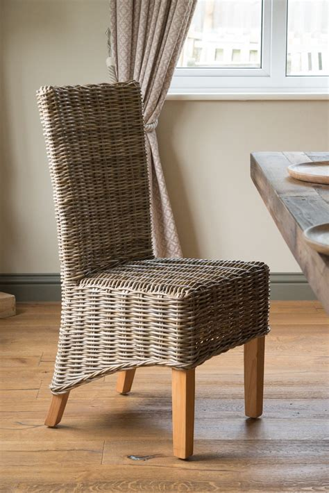 Grey Rattan Dining Chairs Kubu Grey Rattan Dining Chair Light Leg Casa Furniture Uk