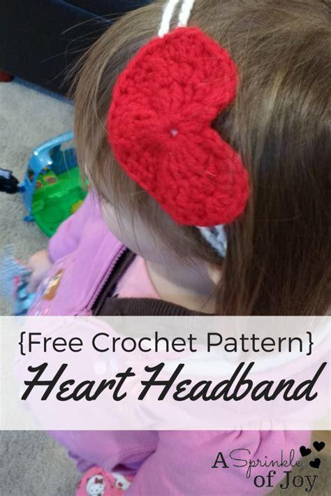 crochet pattern heart headband crochet heart headband free pattern a sprinkle of joy