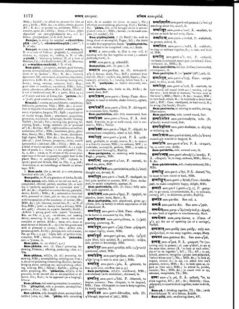 dictionary section monier williams sanskrit english dictionary page 1205